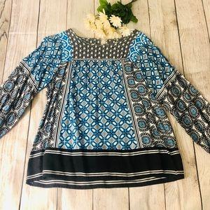 🎉 2/$12 Boho style Loft blouse 🎉